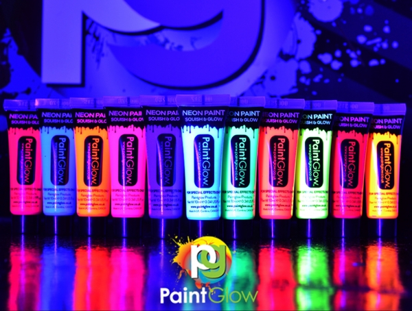 3x 10 ml Face & Body Paint UV aktiv Sortiment