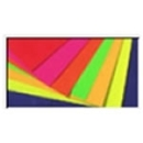UV-light-active board, poster board red